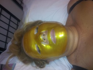 Gold Mask after Diamond Microdermabrasion